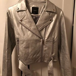 Forever 21 Silver Metallic Jacket